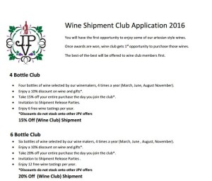 Wine Club Application